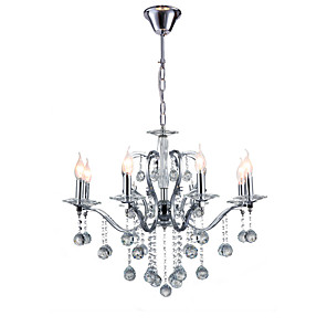 cheap Car Life Appliances-QINGMING® 75 cm Crystal Chandeliers Candle-style Electroplated Modern Contemporary 110-120V / 220-240V