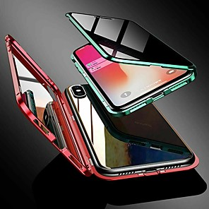cheap iPhone Cases-Magnetic Case For iPhone 11 iPhone 11Pro X XS XR iPhone7 8 Double Tempered Glass Magnetic Phone Anti-Spy Privacy Phone Case Protective Case for iPhone 11Pro Max XS Max