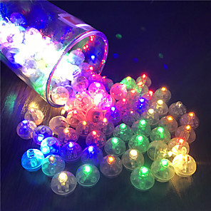 cheap Christmas Decorations-12Pcs Switch Balloon LED Flash Luminous Lamps Tumbler Light Bar Lantern Christmas Wedding Party Decorations Birthday Decor
