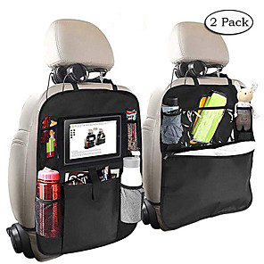 cheap Car Organizers-2pcs Car Styling Backseat Bag Car Organizer Multi-Pocket Storage Bag Cup Holder Touch Screen Tablet Stand iPad Holder Car Phone Pouch