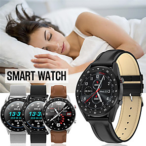 cheap Smartwatches-Smartwatch Digital Modern Style Sporty Genuine Leather 30 m Water Resistant / Waterproof Heart Rate Monitor Bluetooth Digital Casual Outdoor - Black Brown Black / Gray