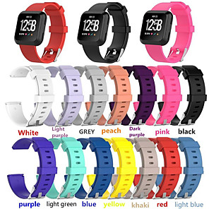 cheap Smartwatch Bands-Watch Band for Fitbit Versa Fitbit Classic Buckle Silicone Wrist Strap(L:180mm-220mm,S:140mm-180mm)