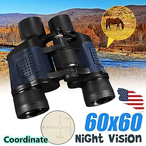 cheap Other Hand Tools-60x60 Binocular with Coordinates Night Vision Binoculars High-powered High-definition Green Film Telescope