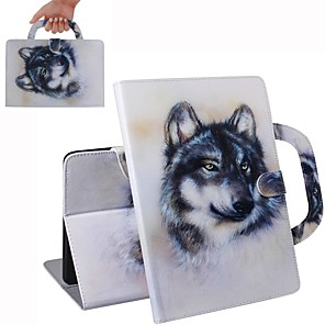 cheap iPad case-Case For iPad Air / iPad 4/3/2 / iPad (2018) Wallet / Card Holder / Shockproof Full Body Cases Wolf  PU Leather Case For iPad Air 2 / iPad (2017) / iPad Pro 9.7