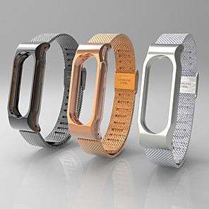 cheap Smartwatch Bands-Watch Band for Mi Band 2 Xiaomi Sport Band Stainless Steel Wrist Strap