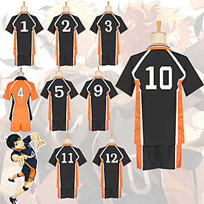 cheap Anime Costumes-Inspired by Haikyuu Cosplay Anime Cosplay Costumes Japanese Cosplay Suits Top Pants For Men's
