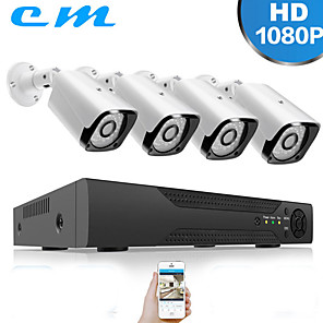 cheap Burglar Alarm Systems-HDMI 4CH AHD Kit Monitoring Set 2 Million 1080P Outdoor Monitor