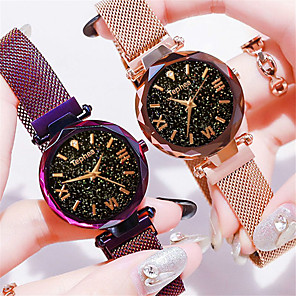 cheap Synthetic Lace Wigs-Women's Wrist Watch Quartz Watches Quartz Formal Style Vintage Style Elegant Casual Watch Stainless Steel Black / Blue / Purple Analog - Rose Gold Black Blue One Year Battery Life