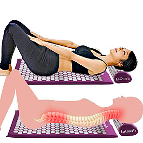 cheap Body Massager-New Massager Cushion Massage Mat Acupressure Relieve Back Body Pain Spike Mat Acupuncture Massage Yoga Mat and Pillow