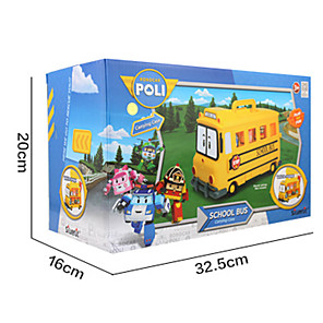 cheap Toy Cars-1:16 Toy Car Double-decker Bus Bus School Adorable PVC / Vinyl Soft Plastic Mini Car Vehicles Toys for Party Favor or Kids Birthday Gift