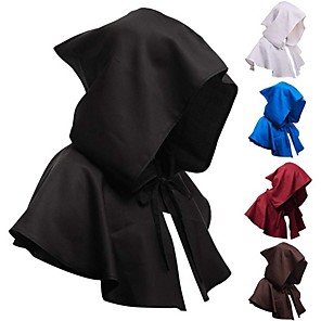cheap Anime Costumes-Priestess Cosplay Costume Cloak Masquerade Adults' Men's Cosplay Halloween Halloween Festival / Holiday Polyster Black / White / Blue Men's Women's Carnival Costumes