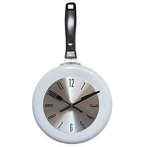cheap Wall Clocks-Modern Contemporary / Fashion Stainless steel Round Classic Theme Indoor Battery Decoration Wall Clock Digital Polished Yes