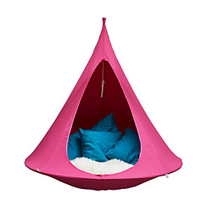 cheap Sleeping Bags & Camp Bedding-1 person Camping Hammock Outdoor Windproof Rain Waterproof Fast Dry Camping Tent 2000-3000 mm for Camping / Hiking / Caving Traveling Oxford Cloth Metal Alloy 100*100 cm