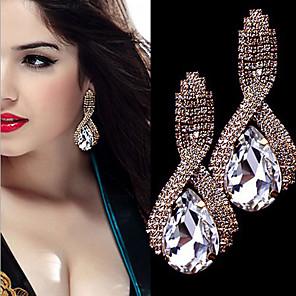 cheap Earrings-Women's AAA Cubic Zirconia Drop Earrings Pear Cut Drop Luxury Vintage Imitation Diamond Earrings Jewelry White / Dark Green / Red For Wedding Party Engagement 1 Pair