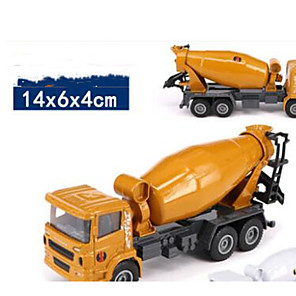 cheap Toy Trucks & Construction Vehicles-1:50 Metalic Construction Truck Set Concrete Mixer Toy Truck Construction Vehicle Toy Car Model Car Music & Light Excavating Machinery Unisex Boys' Girls' Kid's Car Toys