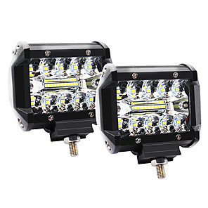 cheap Vehicle Working Light-4 Inch 60W 3 Rows LED Lights Working Light Drive Off-road Lights Roof Strip Lights - 2Pcs