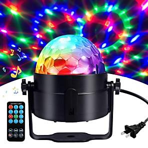 cheap Stage Lights-1 set LED Stage Lights Lanterns Sound Control Remote Control Magic Balls Colorful Rotating Lights Bar DJ Lights