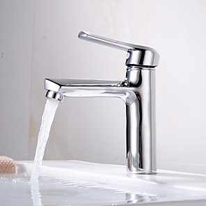 cheap Bathroom Sink Faucets-Bathroom Sink Faucet - Widespread Electroplated Centerset Single Handle One HoleBath Taps