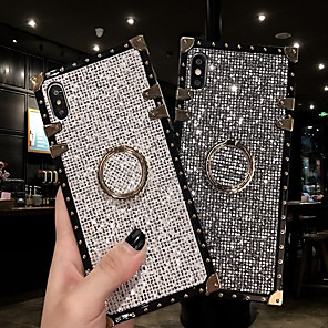 cheap Samsung Case-Case For Samsung Galaxy S9 / S9 Plus / S8 Plus/S8/S10/S10 Plus/S10e/Note 8/Note 9/M20/M30 Shockproof / Ring Holder Back Cover Glitter Shine Metal