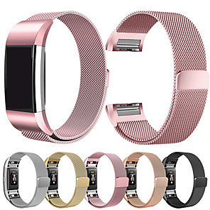 cheap Smartwatch Bands-Milanese Bracelet Strap For Fitbit Charge 2 Smart Band Steel Fitness Bracelet Band Replacement For Fitbit Charge 2