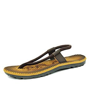 cheap Men's Sandals-Men's Comfort Shoes Elastic Fabric Spring & Summer Vintage Sandals Breathable Red / Blue / Brown