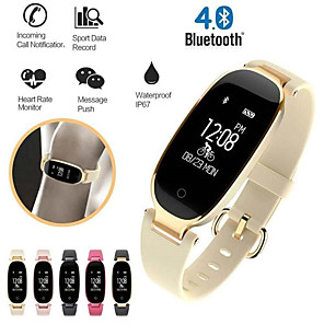 cheap Smartwatches-Smartwatch Digital Modern Style Sporty Genuine Leather 30 m Water Resistant / Waterproof Heart Rate Monitor Bluetooth Digital Casual Outdoor - Black / Gray black / gold Gold