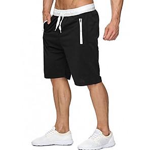cheap Wetsuits, Diving Suits & Rash Guard Shirts-Men's Sporty Shorts Bermuda shorts Pants Print Drawstring Black Blue Purple US32 / UK32 / EU40 US34 / UK34 / EU42 US36 / UK36 / EU44
