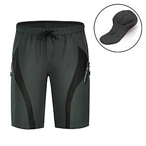 povoljno Biciklističke hlače, kratke hlače i tajice-WOSAWE Muškarci Kratke hlače za MTB Bicikl Podstavljene kratke hlače Kratke hlače za MTB Hlače Prozračnost Pad 3D Ovlaživanje Sportski Jedna barva Spandex Silikon Crn / Siva Brdski biciklizam