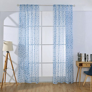 cheap Curtains Drapes-Floral Sheer One Panel Sheer Girls Room   Curtains