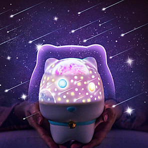 cheap 3D Night Lights-Lovely Bear Shaped Starry Sky Projector Light Tiktok Star Light Nebula Projector USB Powered Color-Changing with USB Port Night Lights for Baby Kids Bedroom
