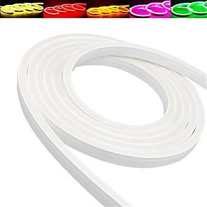 levne Neonová LED světla-5M Ohebné LED pásky 600 LED diody 2835 SMD 1ks Teplá bílá Bílá Červená Voděodolné Ozdobné Dovolená 12 V