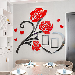 cheap Wall Stickers-Floral / Botanical Wall Stickers 3D Wall Stickers Decorative Wall Stickers, Acrylic Home Decoration Wall Decal Wall Decoration 1pc / Re-Positionable