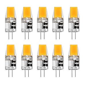 cheap LED Bi-pin Lights-10pcs 5 W LED Bi-pin Lights 300 lm G4 T 1 LED Beads COB Warm White White 12 V