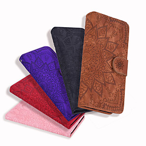 cheap iPhone Cases-Case For Apple iPhone XS XS Max / Flip / Card Holder Full Body Cases Solid Colored Hard PU Leather for iPhone 5 SE  5s  6 6 Plus 6S 6S Plus 7 7 Plus 8 8 Plus X  XR