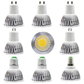 cheap LED Spot Lights-9pcs 12 W LED Spotlight 300 lm E14  E27  GU10  GU5.3 1 LED Beads COB Home Store Lighting Source Warm White White 85-265 V