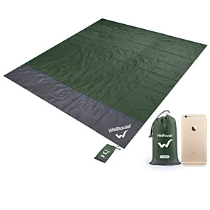 cheap Sleeping Bags & Camp Bedding-Camping Pad Picnic Pad Outdoor Portable Convenient TPU Terylene 200*210 cm Picnic Spring Summer Green Blue