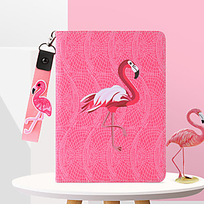 cheap iPad case-Case For Apple iPad2 / 3 / 4 /Air / Air 2/mini 1 / 2 / 3 /mini 4 / Pro 9.7'/Pro 10.5/Air(2019)/ iPad(2018)/iPad(2017) Dustproof / with Stand / Pattern Full Body Cases Animal PU Leather / TPU
