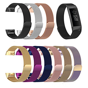cheap Smartwatch Bands-Milanese Bracelet Strap For Fitbit Charge 3 Smart Band Steel Fitness Bracelet Band Replacement For Fitbit Charge 3