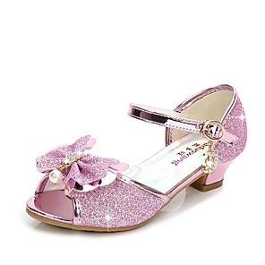 cheap Women's Heels-Girls' Sandals Flower Girl Shoes Synthetics Little Kids(4-7ys) Crystal Purple / Blue / Pink Summer