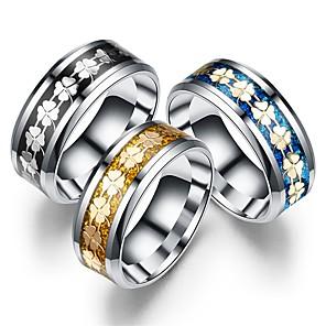 cheap Car Rear View Camera-Men's Women's Band Ring Ring Tail Ring 1pc Gold Black Blue Titanium Steel Circular Vintage Basic Fashion Daily Jewelry Crown