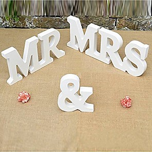 cheap Wedding Decorations-Letter & Number Wood Wedding Decorations Wedding Wedding All Seasons