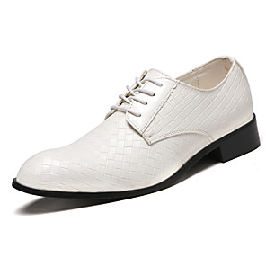 cheap Latin Shoes-Men's Comfort Shoes Fall & Winter Business / Casual Office & Career Oxfords PU Breathable Non-slipping Wear Proof Wine / White / Black