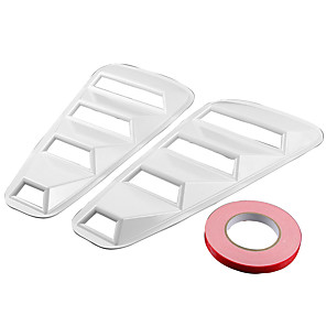 cheap Car Body Decoration & Protection-2005-2014 Ford Mustang 1/4 Quarter Side Window Louvers Scoop Cover Vent