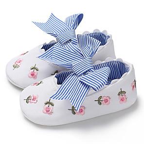 cheap Kids' Flats-Girls' First Walkers Canvas Flats Infants(0-9m) / Toddler(9m-4ys) White / Pink / Blue Spring / Summer