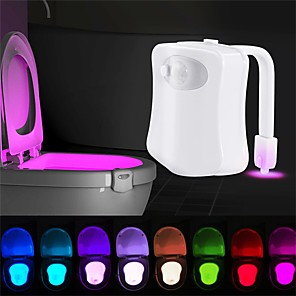 cheap Indoor Night Lights-LOENDE Smart Motion Sensor Toilet Seat Night Light 8 Colors Waterproof Backlight For Toilet Bowl LED Luminaria Lamp WC Toilet Light