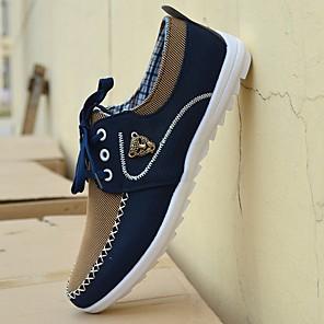 cheap Men's Oxfords-Men's Comfort Shoes Canvas Summer Sneakers Yellow / Blue