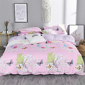 cheap Duvet Cover Sets-Duvet Cover Geometric / Floral / Botanical Poly / Cotton Printed 1 PieceBedding Sets