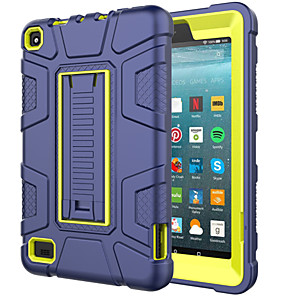 cheap Other Case-Case For Amazon Amazon Fire7(2019) Shockproof Back Cover Solid Colored PC / Silica Gel