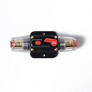 Недорогие Аудио для авто-100-амперный линейный автоматический выключатель стерео / аудио / автомобильный / rv 100a / 100amp fuse 12v