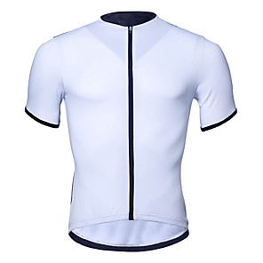 cheap Cycling Jerseys-Malciklo Men's Short Sleeve Cycling Jersey Dark Gray Orange White Bike Jersey Top Mountain Bike MTB Breathable Quick Dry Moisture Wicking Sports Clothing Apparel / Stretchy / Reflective Strips